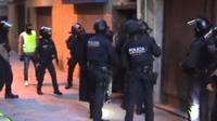Police raid in Ripoll, Spain