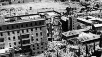 King David Hotel after bomb attack