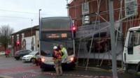 the crashed bus