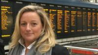 Sara Beare is a commuter, she stands in Waterloo station