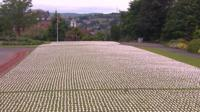 Shrouds laid out in park in Exeter