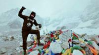 John Farnworth at Everest Base Camp