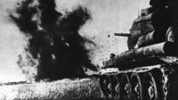 Soviet tank in action in Battle of Kursk