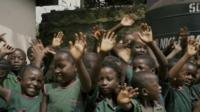 Children from Sierra Leone in West Africa