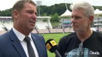 Shane Warne and Robin Smith