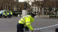 A police cordon at Westminster