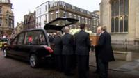 Famous faces attended the funeral of physicist Stephen Hawking as crowds lined the streets of Cambridge.