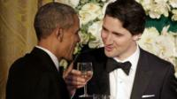 Barack Obama and Canada's new Prime Minister Justin Trudeau