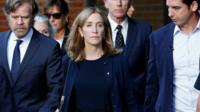 Felicity Huffman leaves court