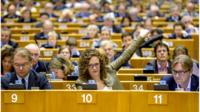 Voting at the Brussels plenary sitting