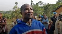 Diamond miner in Sierra Leone