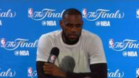 LeBron James speaks at press conference