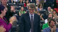 European Parliament president David-Maria Sassoli delivers first speech