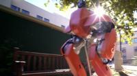 A robot walking through the campus at Caltec