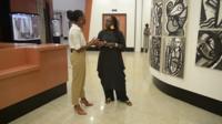 Fatima Sy and the BBC's Nancy Kacungira