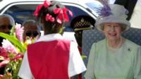 The Queen in Jamaica in 2001