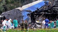 Investigators at Cuba plane crash site