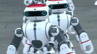 Dancing robots taking part in a Guinness World Record in China