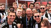 A group of Russian Newcastle United fans met their hero Alan Shearer at the 2018 World Cup.