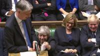 PM hands cough sweets to the chancellor