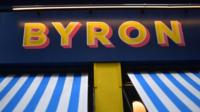 Byron burger sign