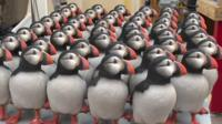 Models of puffins