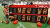 Genzebe Dibaba sets new 1500m world record in Monaco
