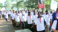 Grandmothers from across Africa marching for HIV/Aids awareness