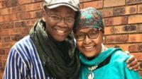 Sonwabile Ndamase and Winnie Madikizela-Mandela