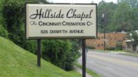 The Hillside Chapel Crematory in Cincinnati, Ohio.