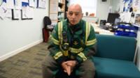 Martyn Sullivan from Wales Ambulance's Hazardous Area Response team