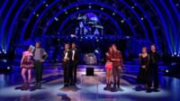 The finalists of Strictly Come Dancing