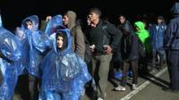 Migrants travelling in Croatia