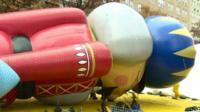Nutcracker balloon lying on the ground