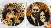 Canadian Jessica Clark-Bojin bakes the portraits of pop culture characters directly on to her desserts.