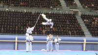 South Korean taekwondo team performs in Pyongyang, North Korea, on 1 April 2018