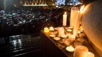 Candles and crowds