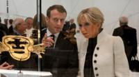 Emmanuel Macron with his wife Brigitte