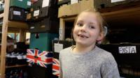 Heidi Wallace at a food bank