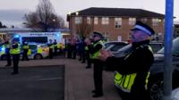 Police applaud heath workers