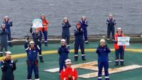 Oil workers in the North Sea clapped for carers