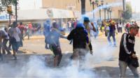 Protesters in Venezuela.