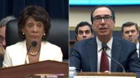 Maxine Waters and Steven Mnuchin