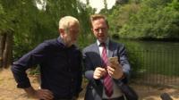 Jeremy Corbyn and Adam Fleming