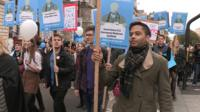 Doctors protest march