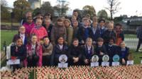 Pupils from St Nicholas School at the field of remembrance