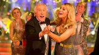 Sir Bruce Forsyth with Tess Daly on Strictly Come Dancing
