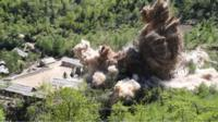 Punggye-ri nuclear test ground explosion