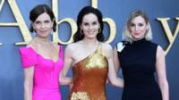Downton Abbey cast members Elizabeth McGovern, Michelle Dockery and Laura Carmichael