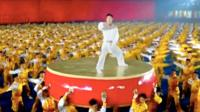 Shaolin performers in the CCTV gala